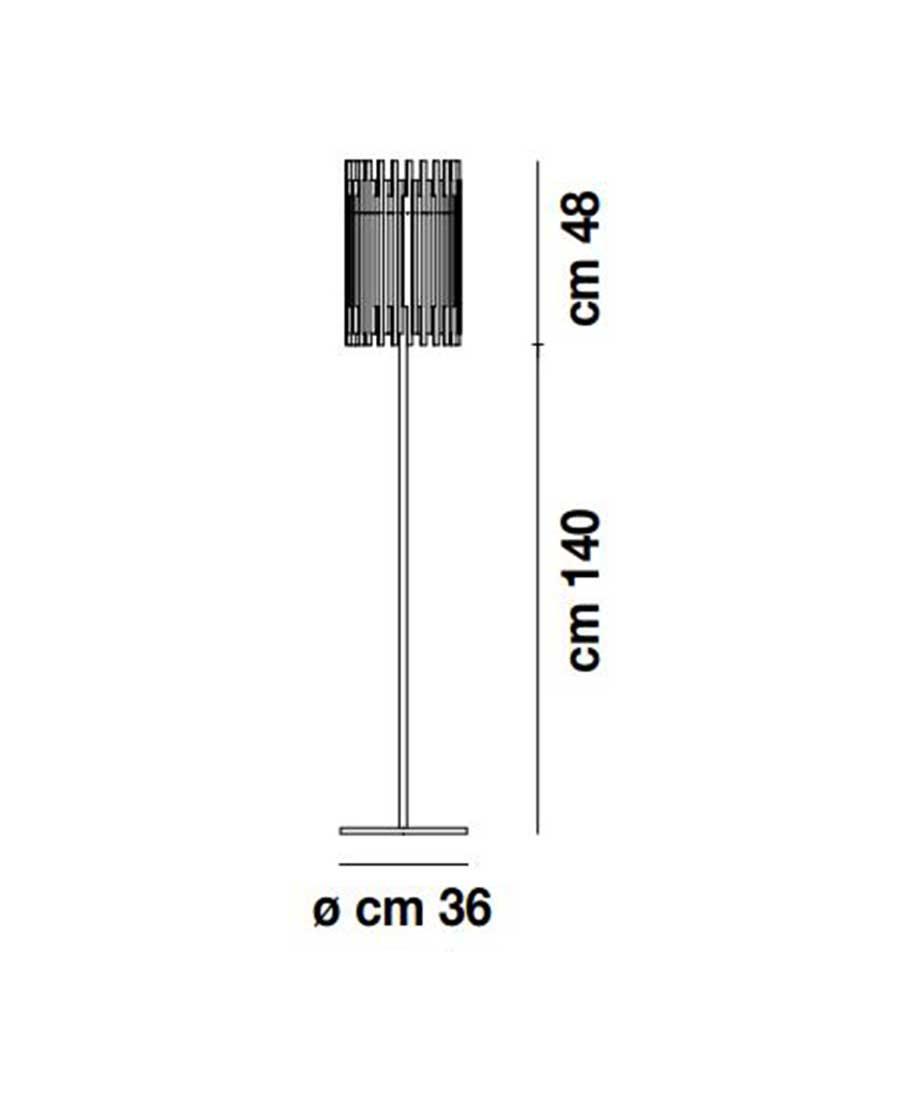 DIADEMA-PT-B-G-Floor-Light-Dimensions-by-Vistosi