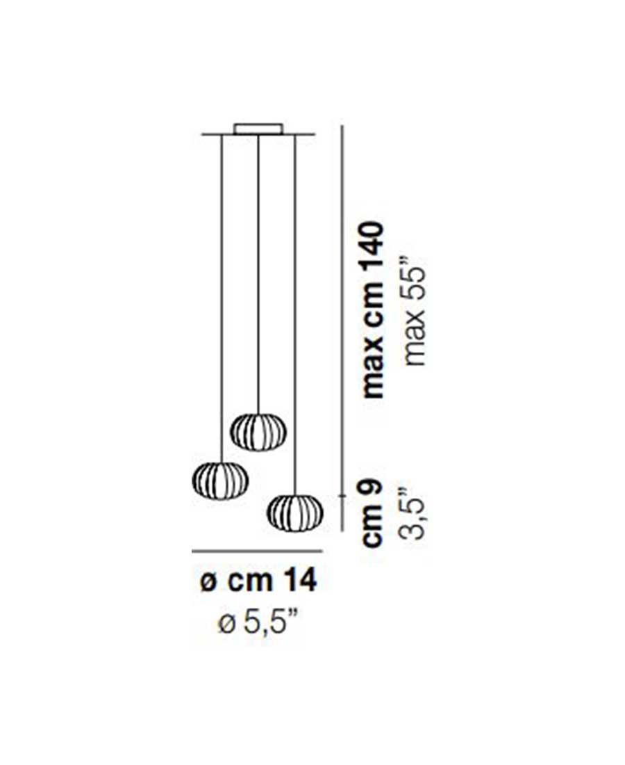 DIAMANTE-SP-3-Pendant-Light-Dimensions-by-Vistosi