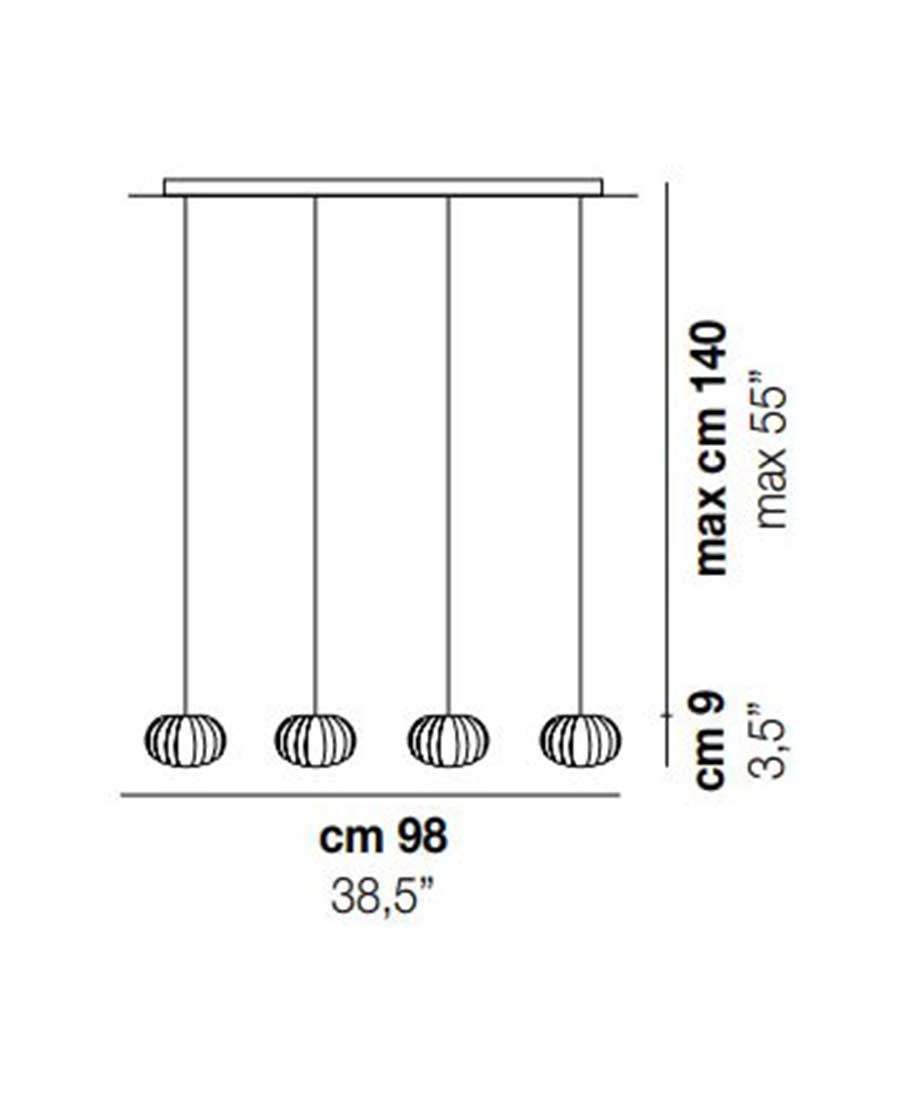 DIAMANTE-SP-4-Pendant-Light-Dimensions-by-Vistosi