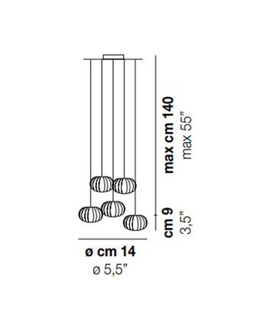 DIAMANTE-SP-5-Pendant-Light-Dimensions-by-Vistosi