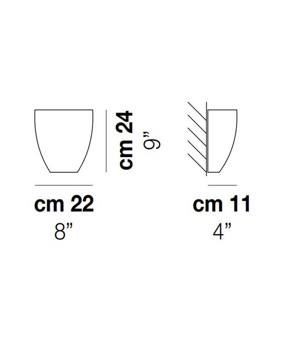 Dafne-Wall-Light-Dimensions-by-Vistosi