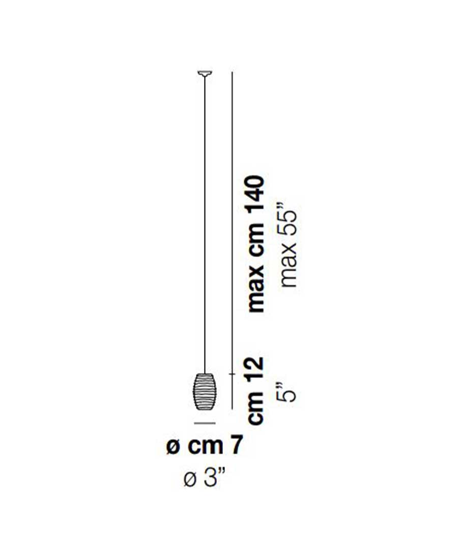 Damasco-Pendant-Light-Dimensions-by-Vistosi-7cm