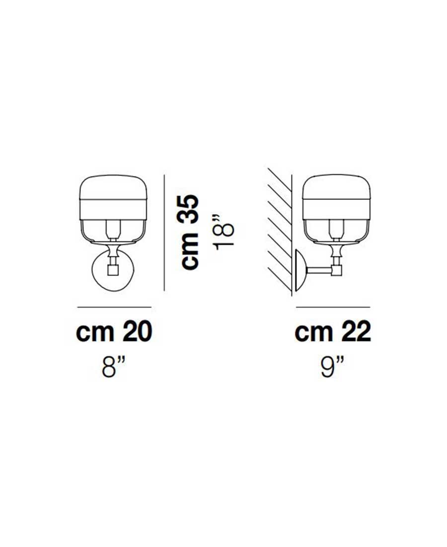 Futura-AP-P-Wall-Light-Dimensions-by-Vistosi