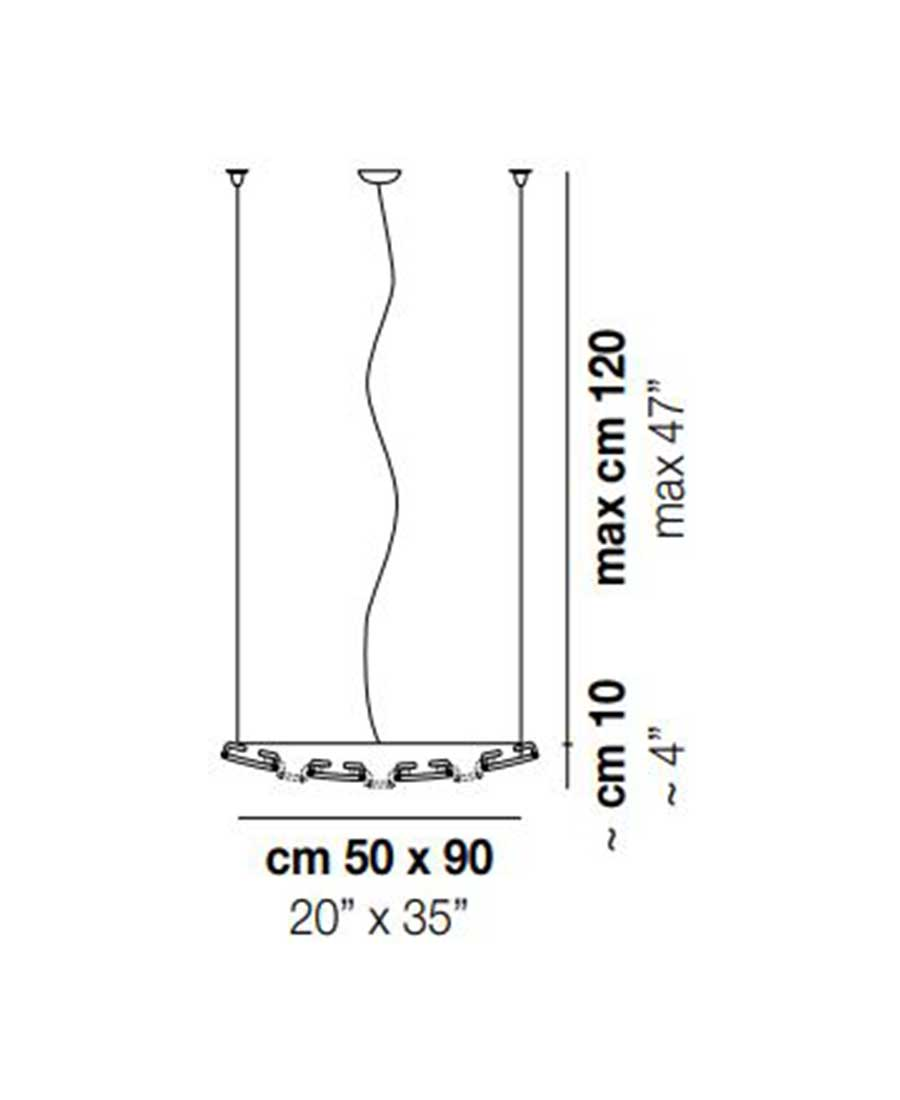 Giogali-3D-Pendant-Light-Dimensions-by-Vistosi-50cm-x-90cm