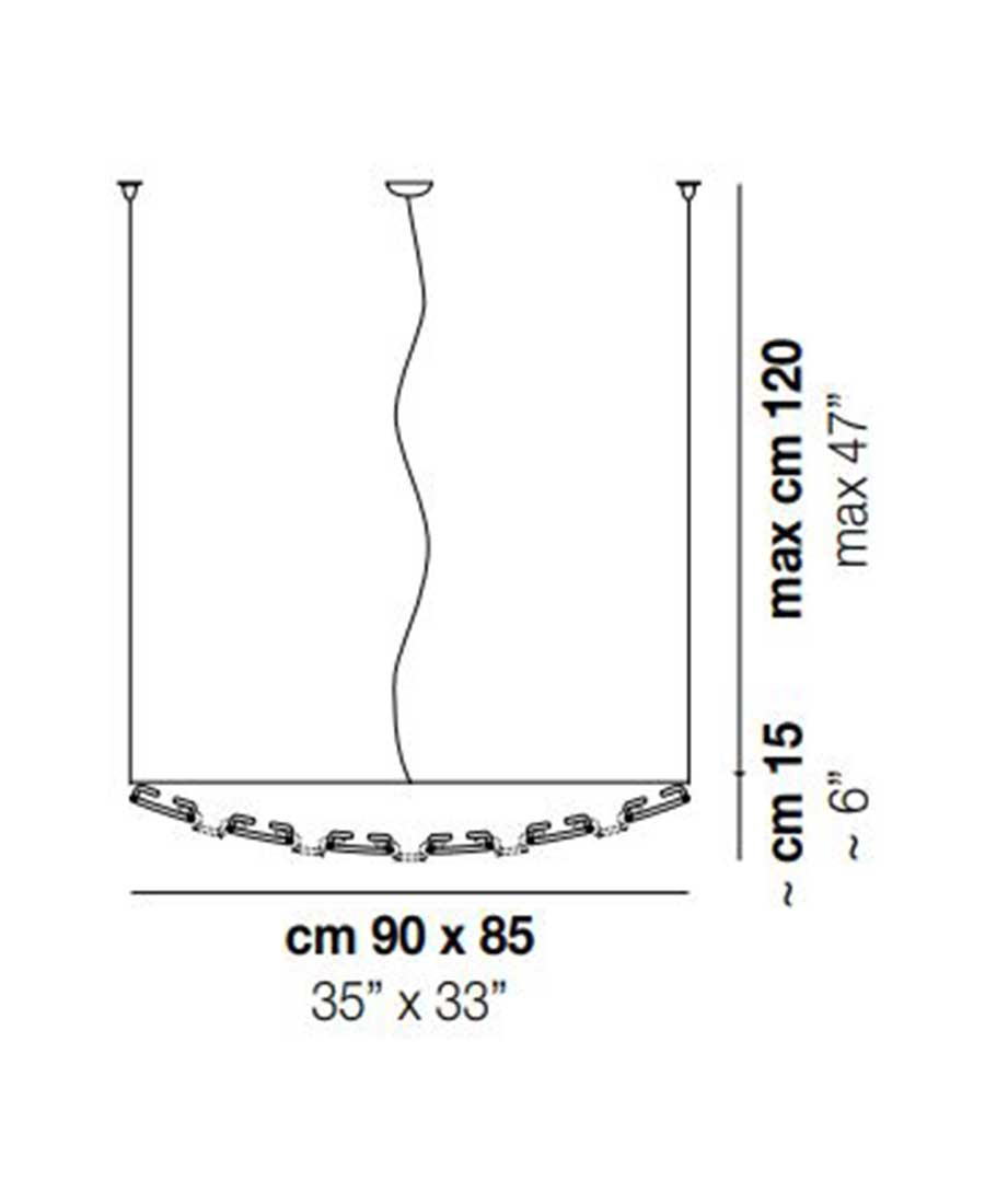 Giogali-3D-Pendant-Light-Dimensions-by-Vistosi-90cm-x-85cm