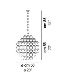 Giogali-SP-3E-Pendant-DimensionsLight-by-Vistosi