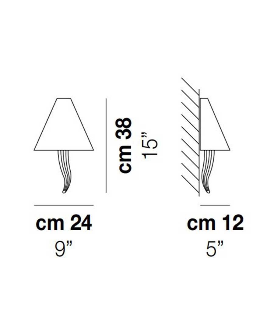 Goccia-Wall-Light-Dimensions-by-Vistosi