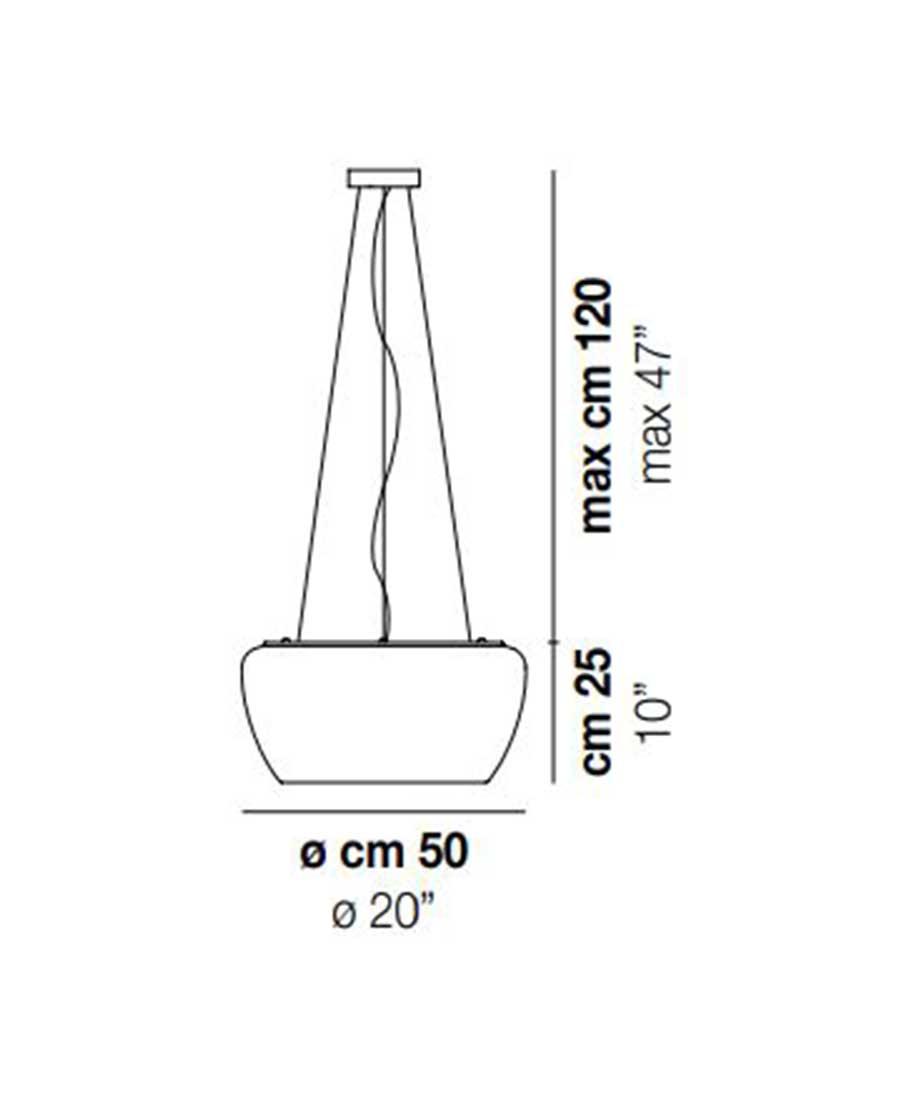 Implode-SP-50-Pendant-Dimensions-Light-by-Vistosi