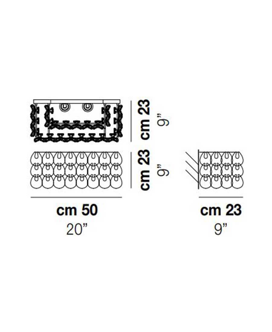 MiniGiogali-AP-2-Wall-Light-Dimensions-by-Vistosi