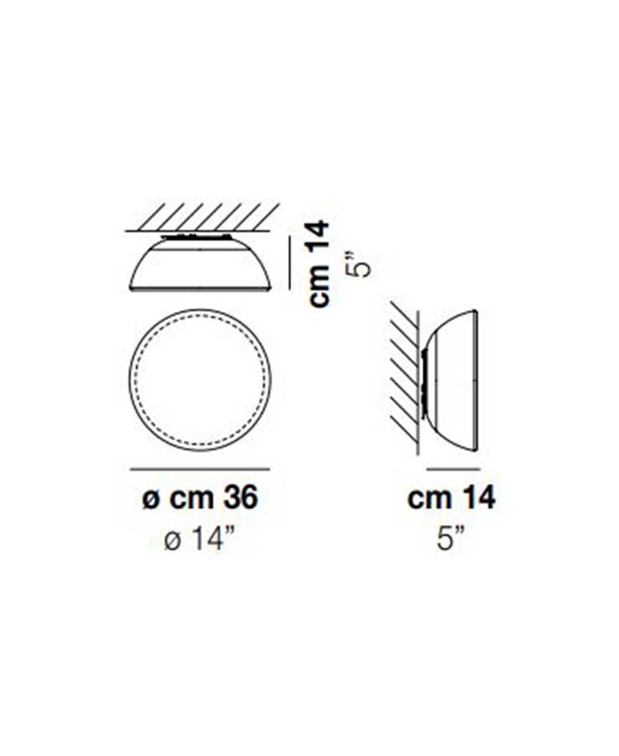 Infinita-PP-36-Wall-Light-Dimensions-by-Vistosi
