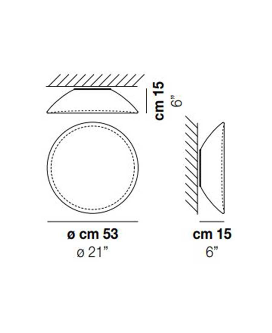 Infinita-PP-53-Wall-Light-Dimensions-by-Vistosi