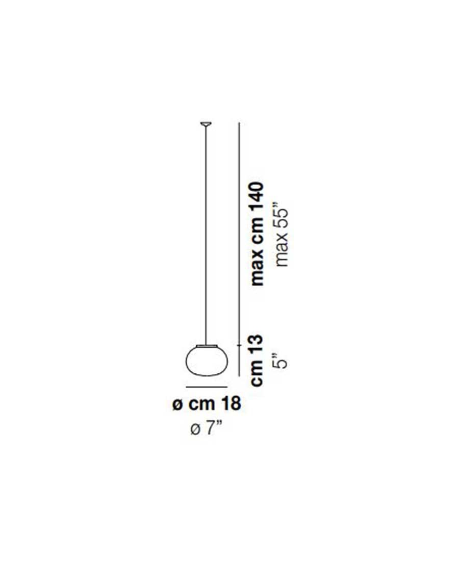 Lucciola-SP-18-Pendant-Light-Dimensions-by-Vistosi