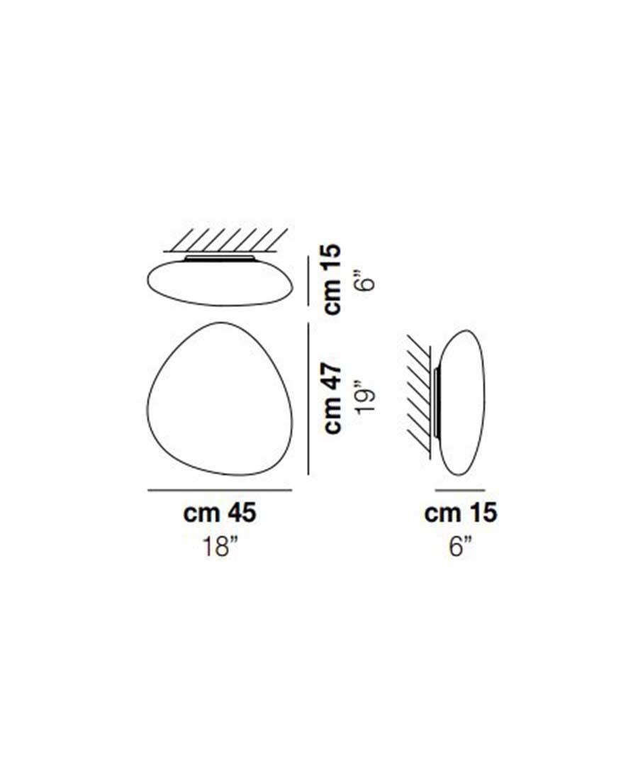 Neochic-PP-M-Wall-Light-Dimensions-by-Vistosi