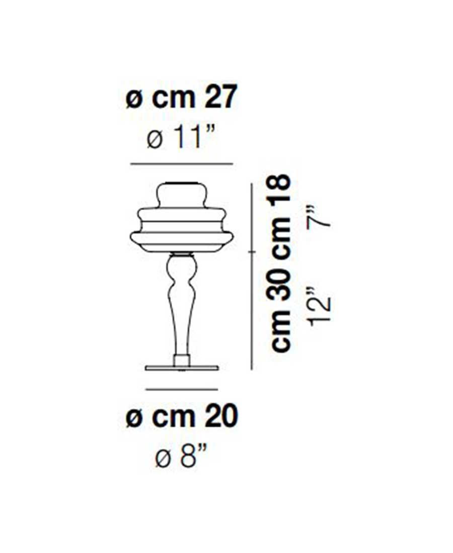 Novecento-LT-Table-Light-Dimensions-by-Vistosi