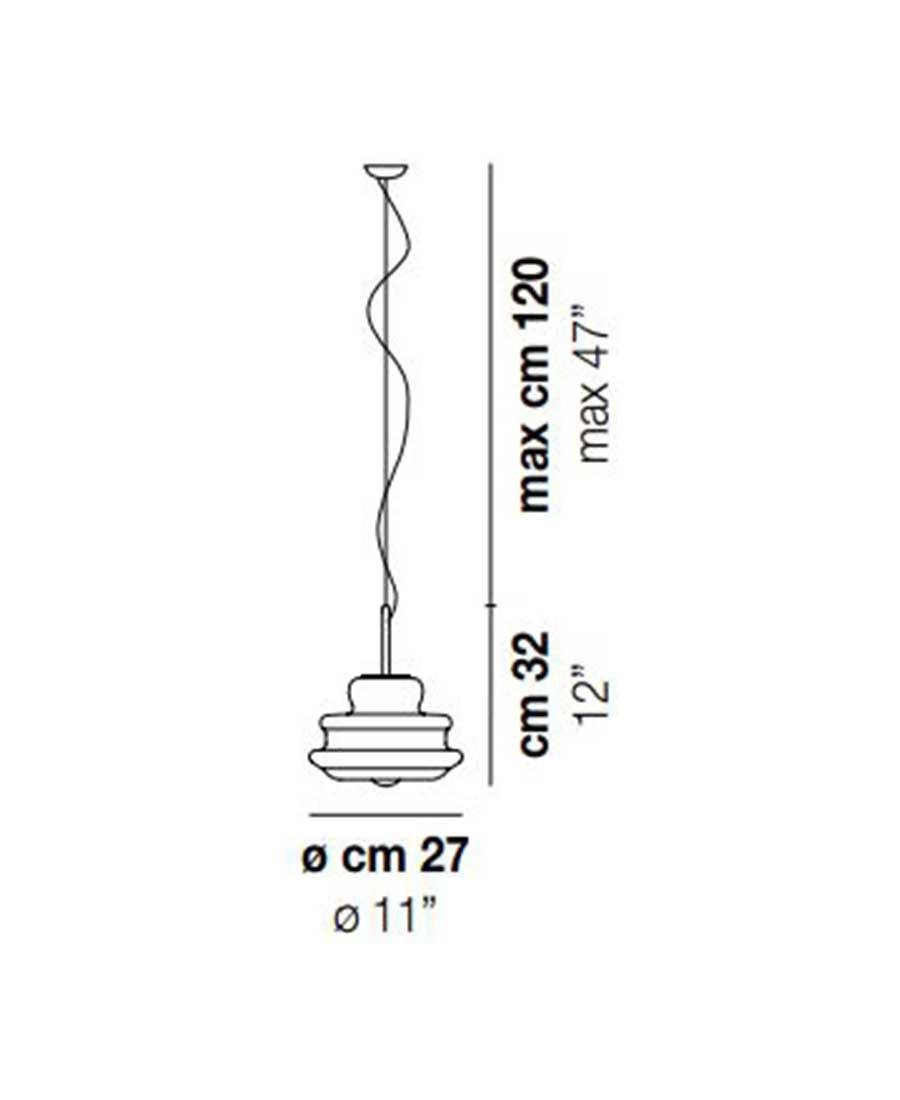 Novecento-SP-P-Pendant-Light-Dimensions-by-Vistosi