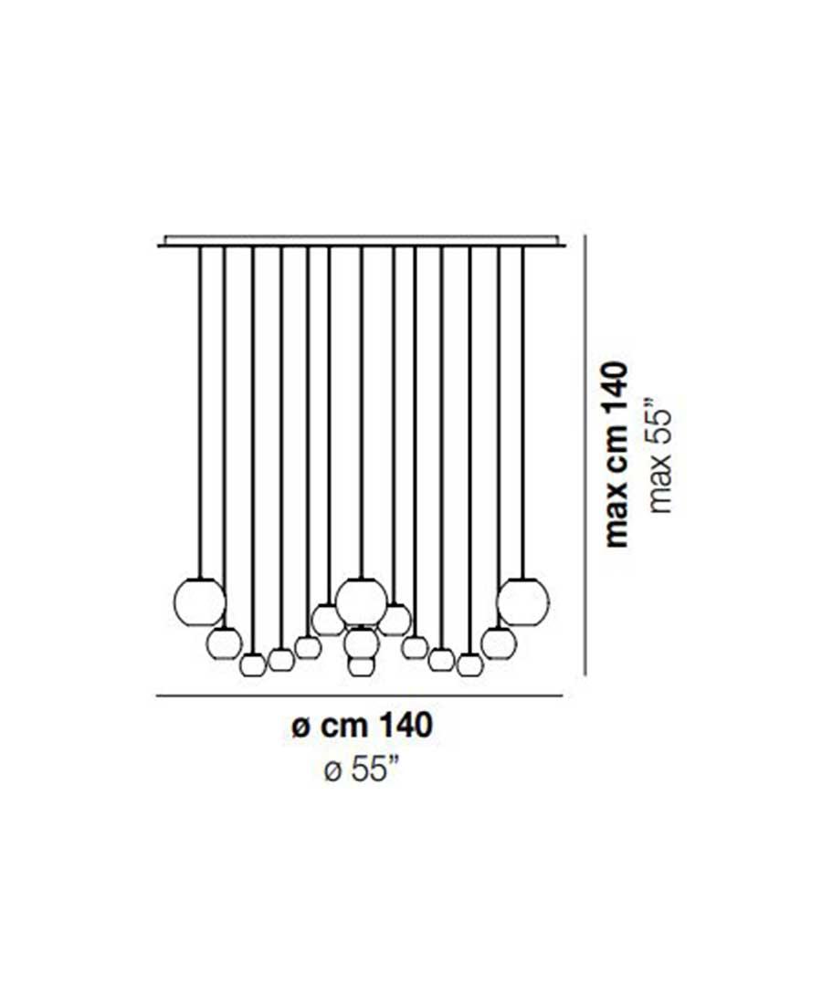 Oto-SP-CHA-Cluster-Pendant-Light-Dimensions-by-Vistosi