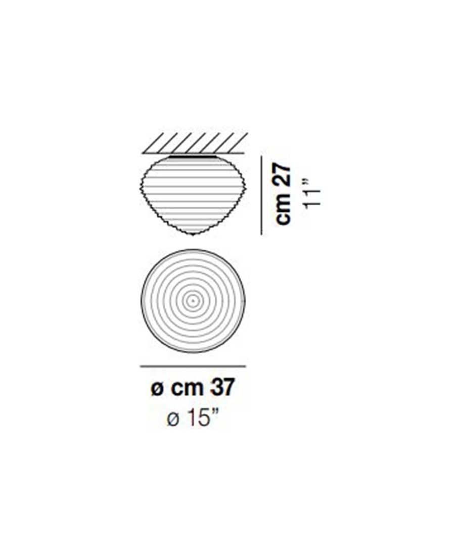 Spirit-PL-37-Ceiling-Light-Dimensions-by-Vistosi