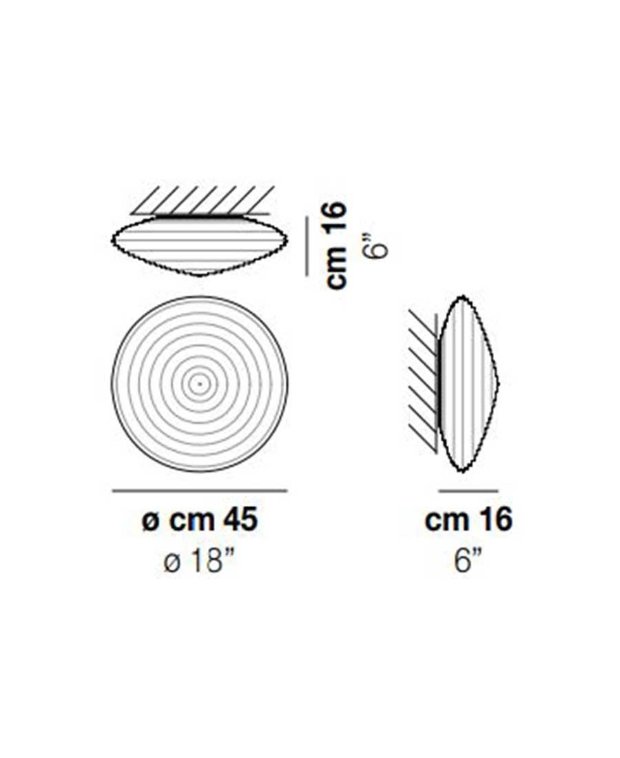 Spirit-PP-45-Wall-Light-Dimensions-by-Vistosi