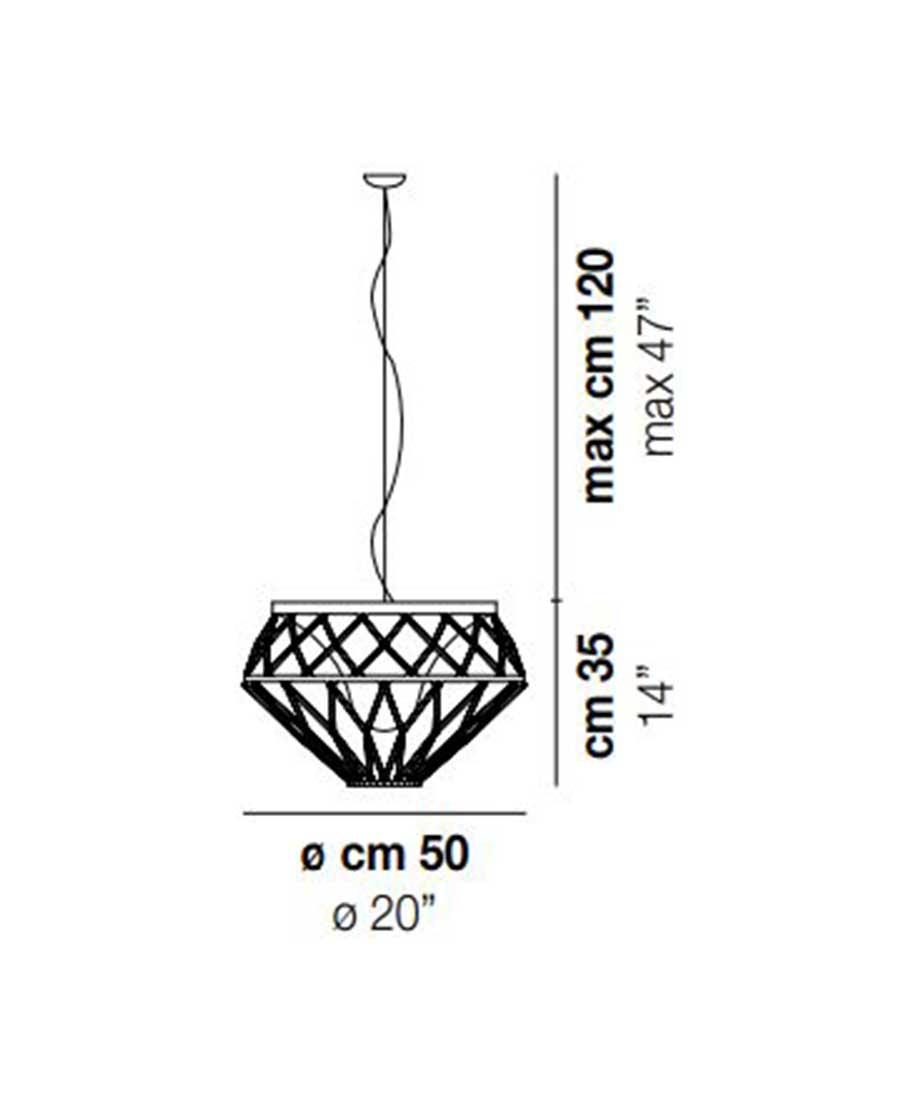 Starnet-SP-1-Pendant-Light-Dimensions-by-Vistosi