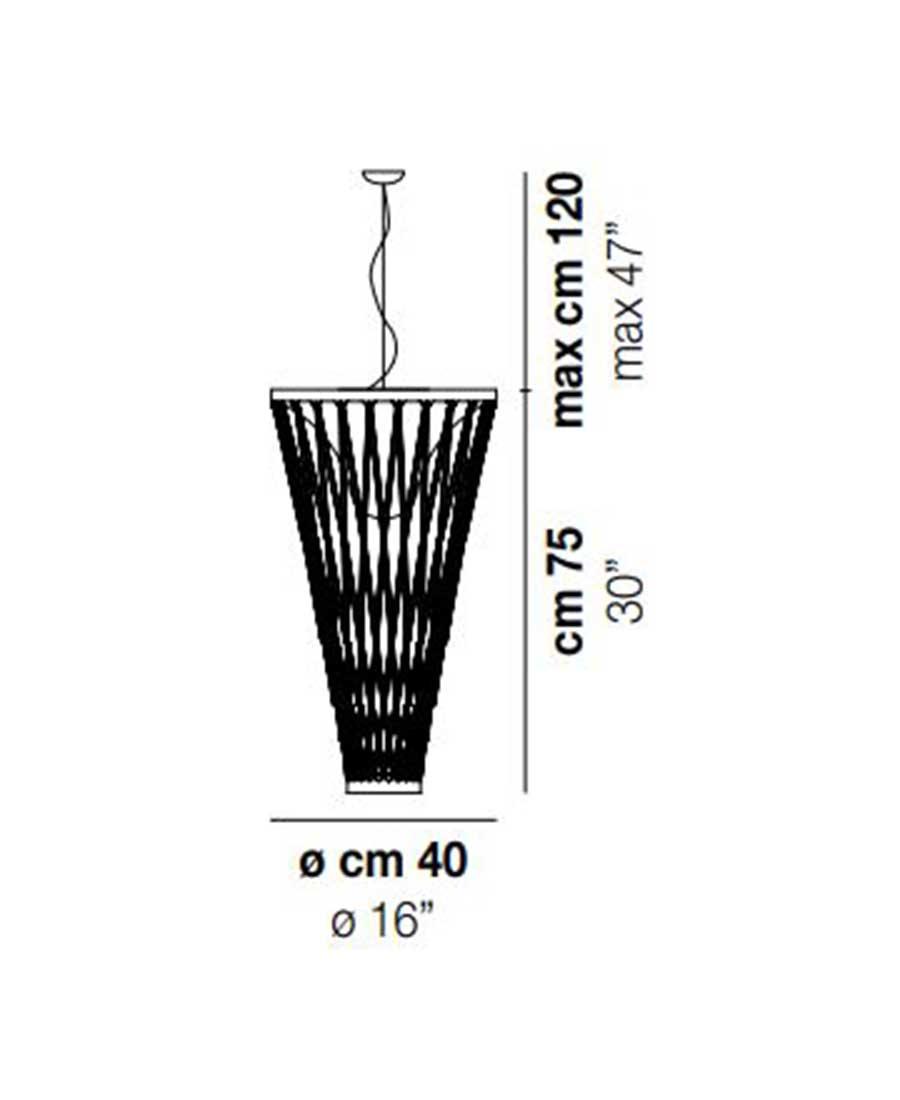 Starnet-SP-2-Pendant-Light-Dimensions-by-Vistosi