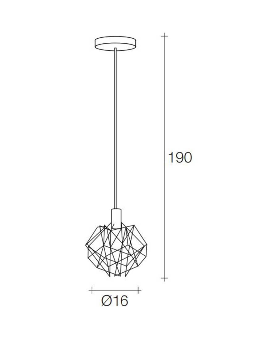 Etoile-Pendant-Light-16cm-Dia.-X-190cm-High-by-Terzani