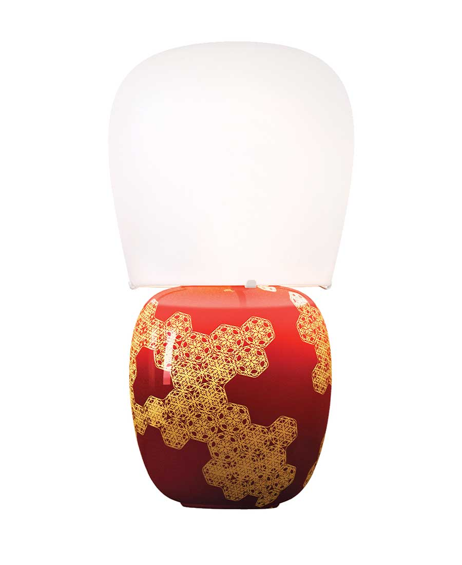 Hive-Table-Lamp-By-Kundalini-Red