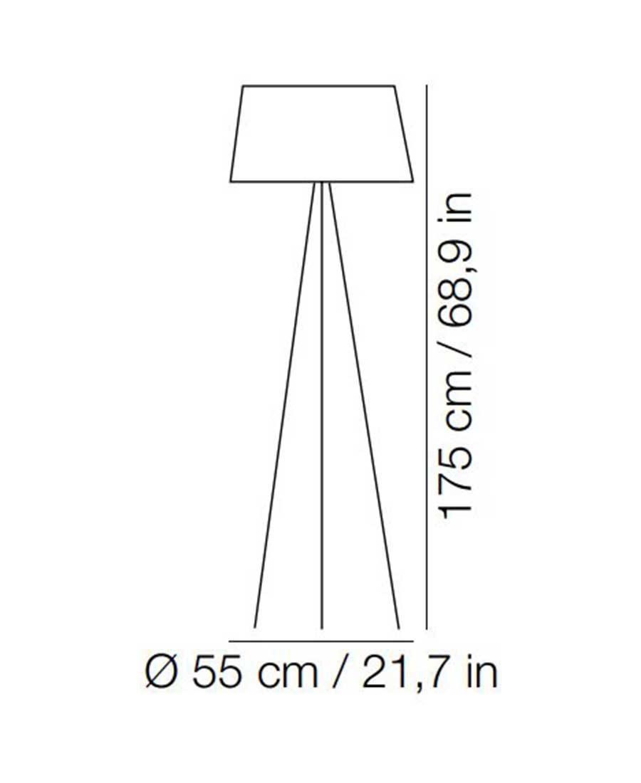 Tripod-Floor-Light-Dimensions-By-Kundalini