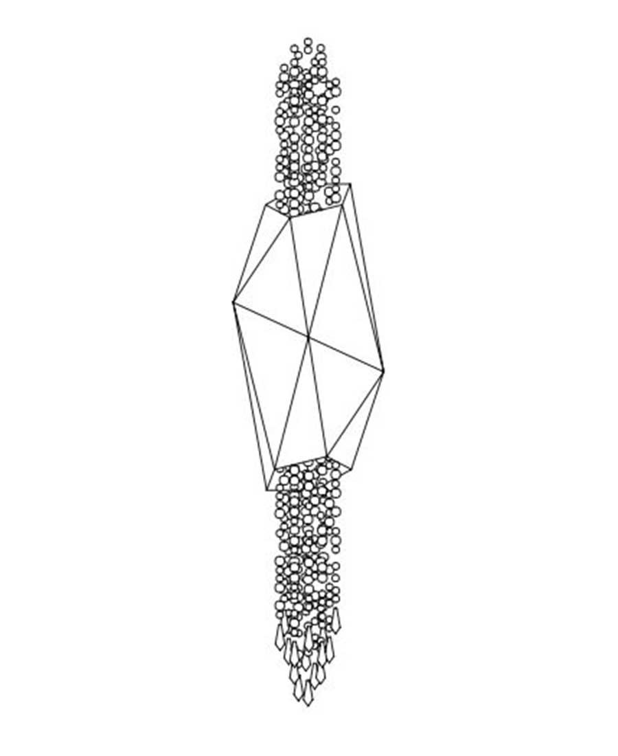 Bracelet-By-Sans-Souci-PENDANT-25cm-(D)-×-100cm-(H)
