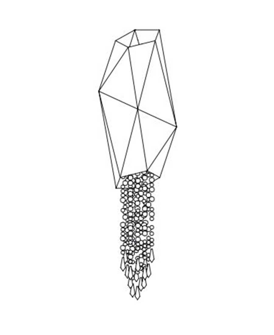 Bracelet-By-Sans-Souci-PENDANT-25cm-(D)-×-78cm-(H)