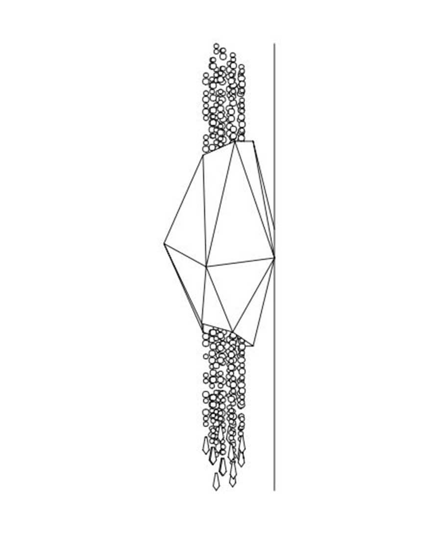 Bracelet-By-Sans-Souci-WALL-SCONCE-25cm-(D)-×-100cm-(H)