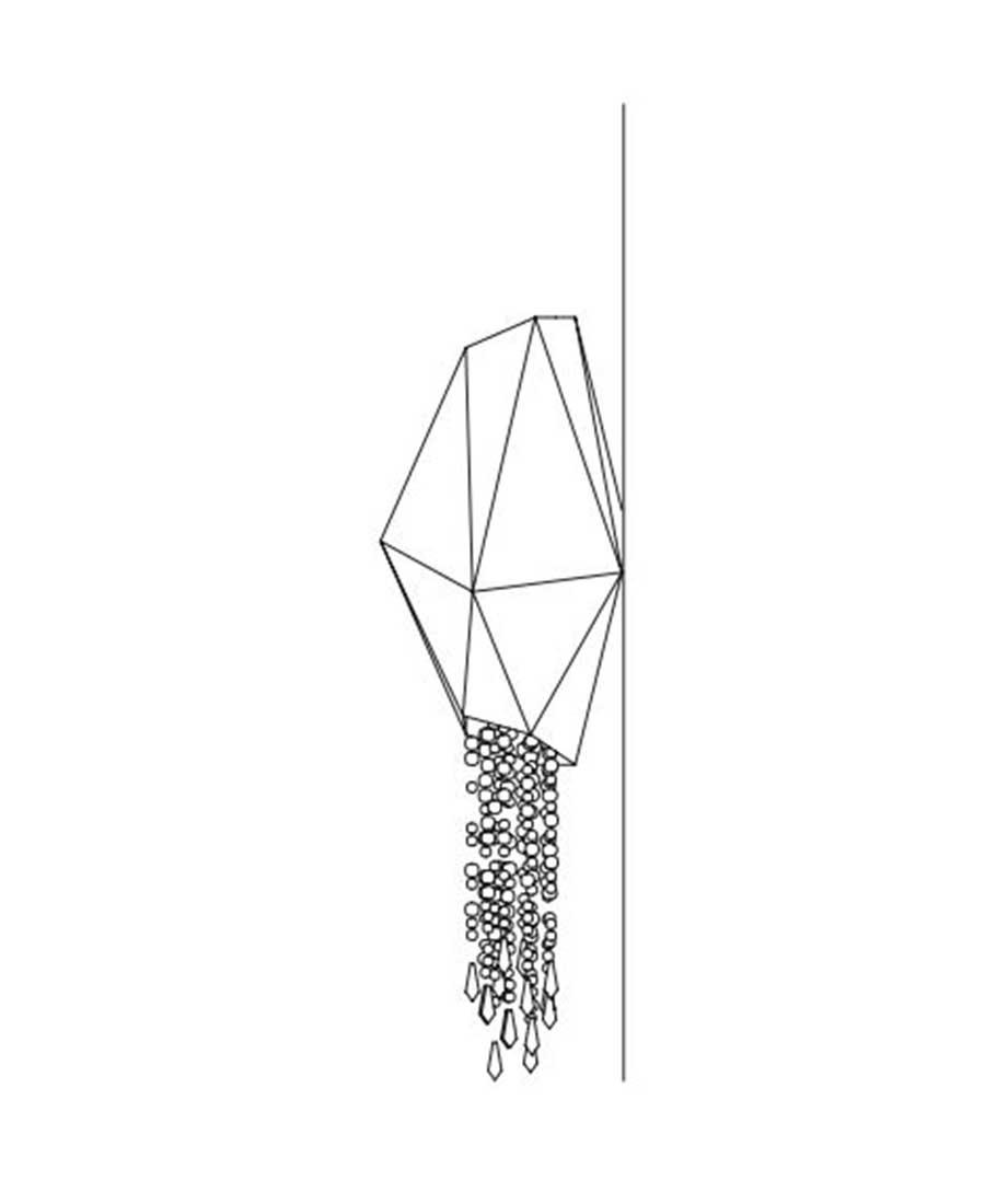 Bracelet-By-Sans-Souci-WALL-SCONCE-25cm-(D)-×-78cm-(H)